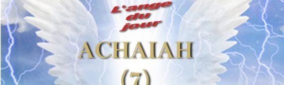 Achaiah ( 21 au 25 avril)